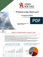 2 de Blasio PVGRID PV Market in Italy Whats Next Assosola