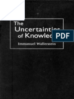 Immanuel Wallerstein the Uncertainties of Knowledge 1