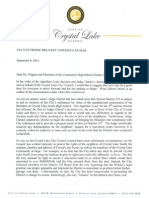 Crystal Lake mayor's letter to Community High School District 155