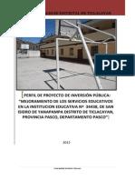 Proyecto de Inversion Mejora Educativa Pasco