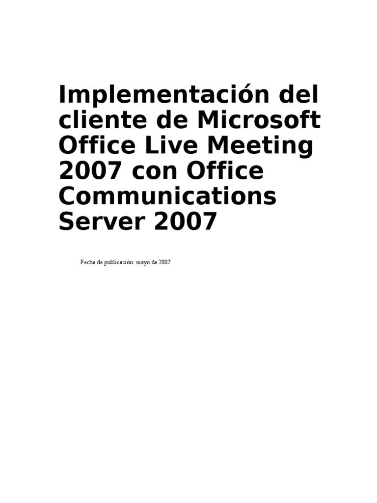 138254549 Implementacion Del Cliente de Microsoft Office