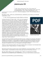 História Da Administração III - Wikiversidade