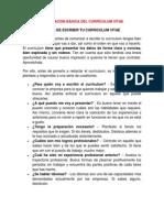 Informacion de Curriculum Vitae