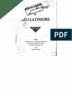 Dartois, J.-l. (Jean Espagnolle) - Le Néo-latinisme (1909)
