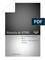 Historia Del HTML Al HTML 5