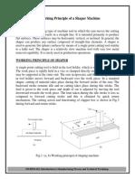 Man Pro Lab Exp No. 7 Working Principle of a Shaper Machine