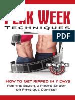 Peak Week Techniques
