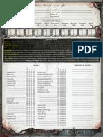 Daemon Prince Character Sheet