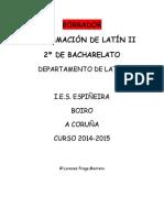 Latín II 2014-2015 Programación Oficial
