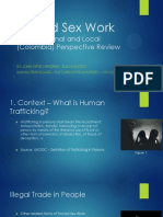 Human Trafficking and Forced Sex Work - An International and Local (Colombia) Perspective Review