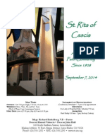 St. Rita Parish Bulletin 9/7/2014