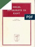 A Cura Di Valerio Verra-Hegel Interprete Di Kant-Prismi (1981)