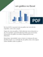 Apostila Como Criar Um Gráfico No Excel