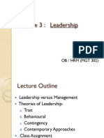 Lecture 3 - Leadership