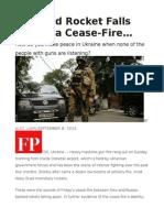 If a Grad Rocket Falls During a Cease-Fire…