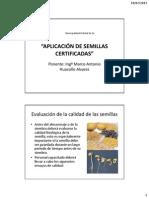 Aplicación de Semillas Certificadas