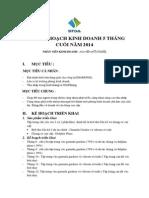 Bảng Kế Hoạch Kinh Doanh 5 Tháng Cuối Năm 2014
