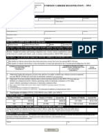 2014 Unified Carrier Registration Form