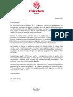 Carta DIRECTOR CARITAS BIZKAIA  Navidad 2009