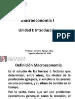 Macroeconomía I Unidad I Introducción
