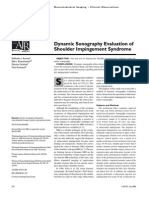 sonography of shoulder impingement syndrome
