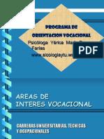 Areas de Interes Vocacional