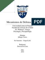 Mecanismos de Defensa Del Yo