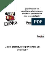 Presentación Candidatos y Canón