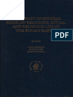 The Impact of Imperial Rome on Religious, Ritual and Religious Life