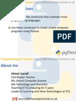 Programming for Teachers