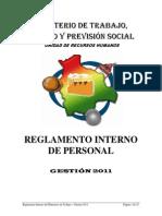 Reglamento Interno de Personal MTEPS