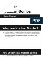 the transformational power of chemistry-nuclear weapons