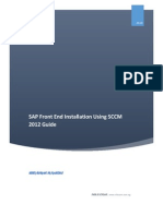 SAP Front End Installation Using SCCM 2012 Guide