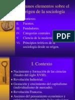 Elementos Sobre El Origen de La Sociologia-libre