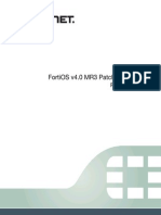 Fortios v4.0 Mr3 Patch Release 18 Release Notes