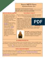 Noyce METS newsletter September 2014