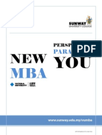 Sunway University College Victoria University, Australia MBA 2010