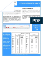 Consumer Price Index - Jul 2014