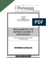 R.C. Nº 176-2014-CG. Reglamento de Infracciones y Sanciones