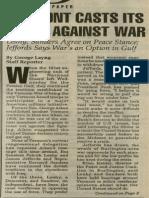 Vermont Casts Its Votes against War | Vermont Times | Jan. 10, 1991