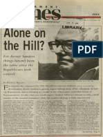 Alone on the Hill? | Vermont Times | May 25, 1995