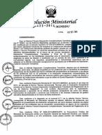 Resolución Ministerial Nº 423-2014-Minedu