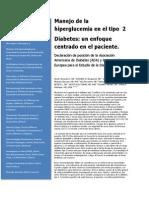 Manejo de La Hiperglucemia en El Tipo 2