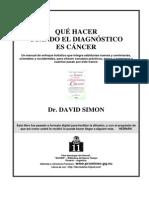 Simon, David - Qué Hacer Cuando El Diagnóstico Es Cáncer