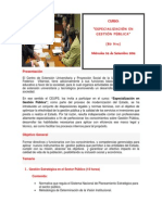 Especializacion en Gestion Publica Unfv 17.02.14