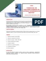 Formacion de Auditores Internos de Sistemas Integrados de Gestion