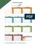 Calendario y Plantilla de Temporalizaciones PRIMARIA