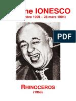 Eugène Ionesco - Rhinocéros