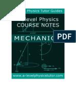Physics Mechanics help booklet