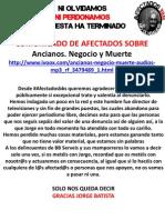Afectadosbbs Denuncia Ancianos. Negocio y Muerte Radio Gramsci Por Jorge Batista